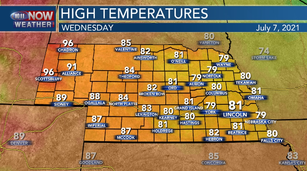 It will be cooler and not as humid.