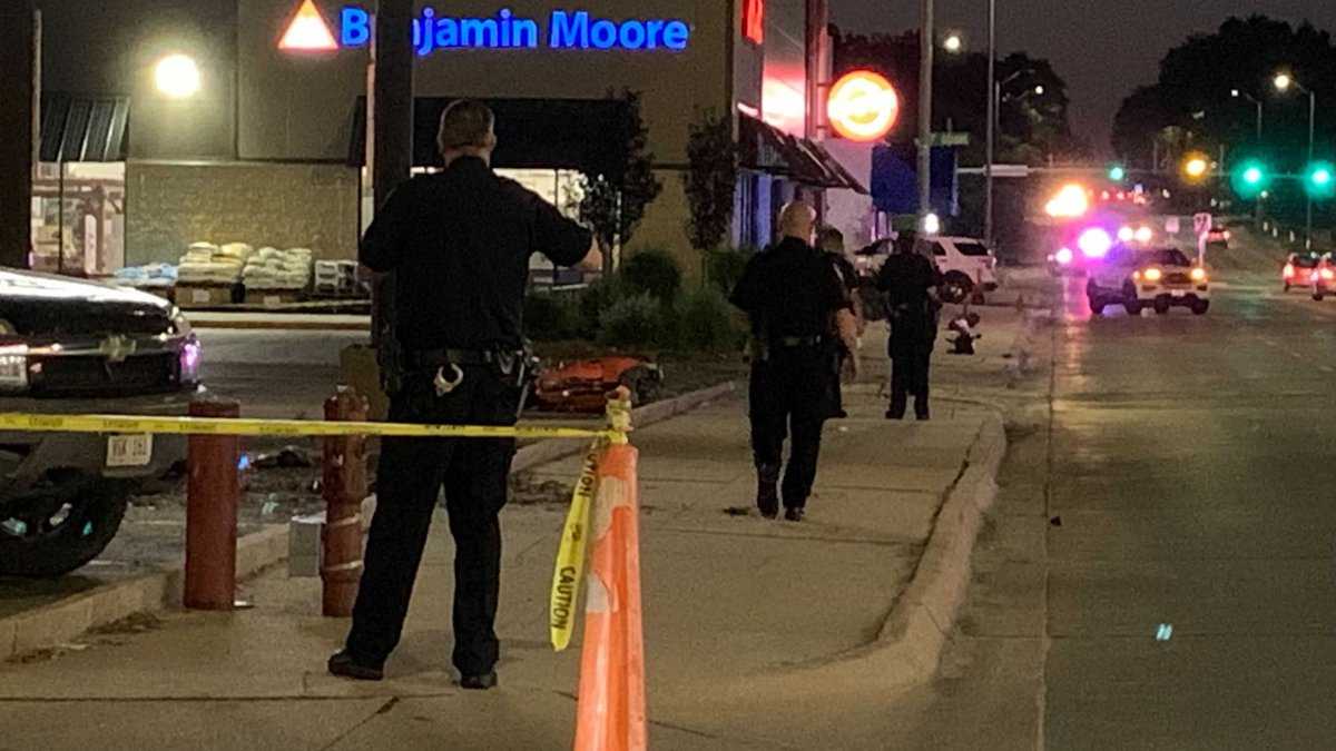 Police investigate a motorcycle crash that happened near 27th & F Streets Sunday night.