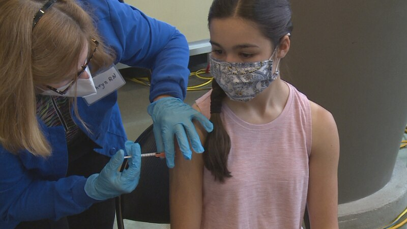 Teenager Josie Jones got her first dose of the Pfizer COVID-19 vaccine.
