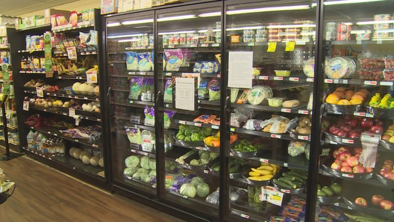 We visit a small-town grocery store that provides convenience for local residents.