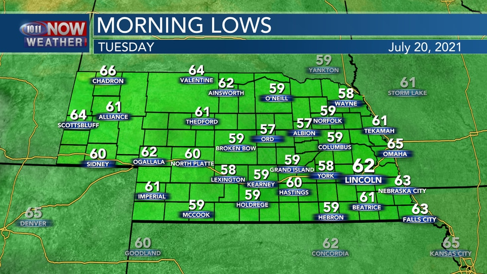 Temperatures into early Tuesday should fall to the upper 50s and low 60s with some areas of...