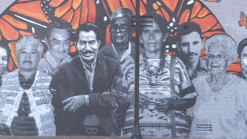 Lincoln man creates mural in honor of grandparents across the city.