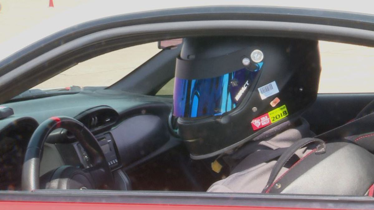 Autocross racer waits to take off and race in 47th SCCA Autocross National Championship. (Source: Kamri Sylve/KOLN)
