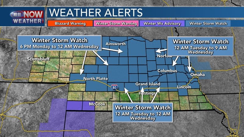 Winter Storm Watches are in place across the state as an impactful winter storm is set to move...
