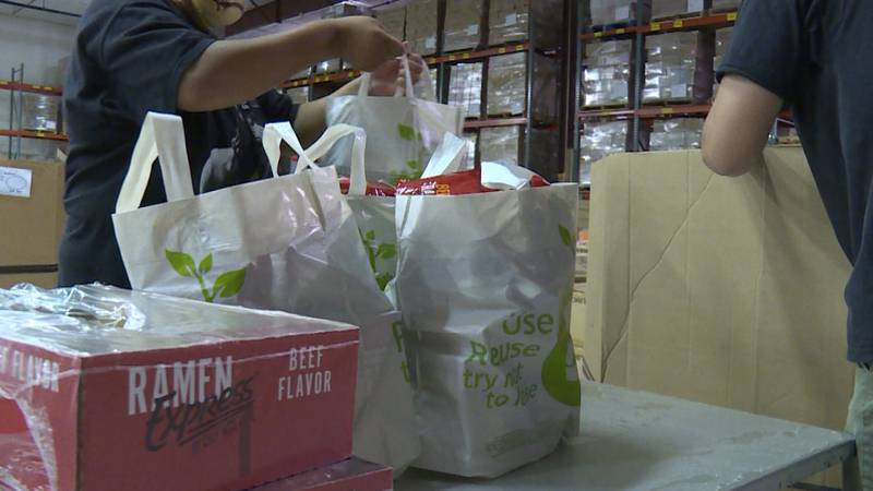 The Food Bank of Lincoln's food distribution programs return after not being able to be in...