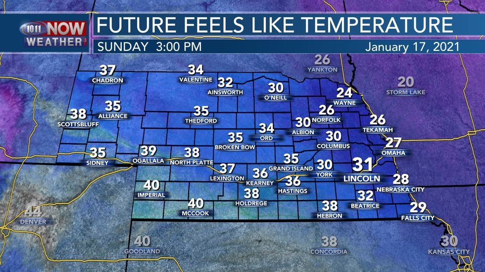 Blustery northwest winds will lead to afternoon wind chills in the 20s and 30s for most areas.