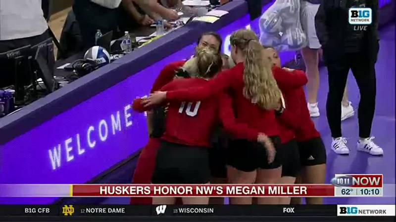 Megan Miller reflects on Nebraska Northwestern game