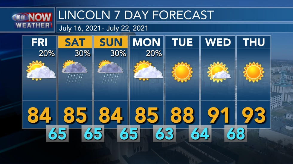 Small chances for rain are expected for Friday and into early next week. An upper level ridge...
