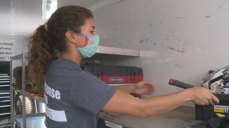 Students will spend a week in Louisiana clearing debris, cutting downed trees and helping in...