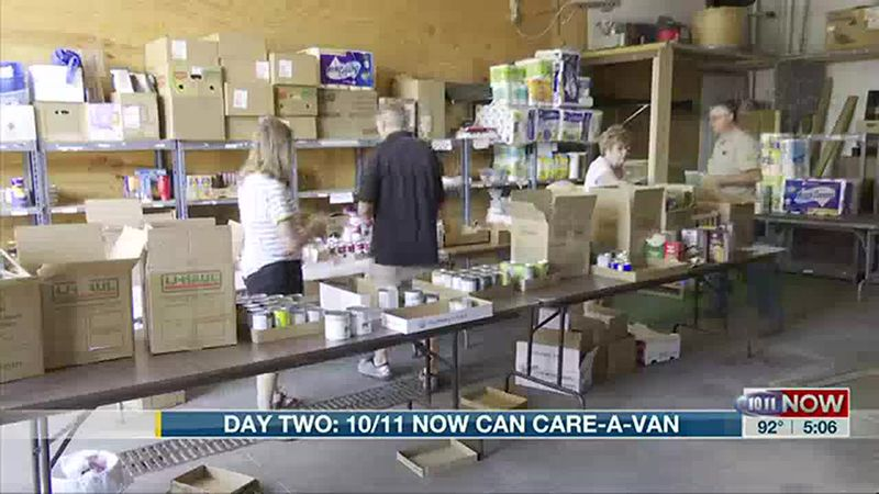 Day 2 of the 10/11 Can Care-a-Van.