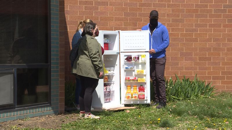 LNK Freedges group puts 2nd fridge outside the Malone Center.