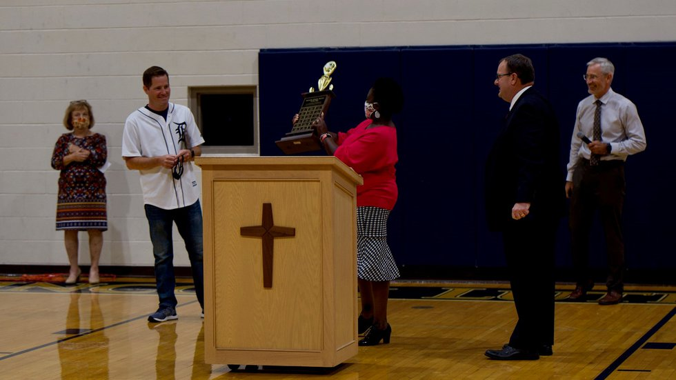 Nathan Bassett, a teacher at Lincoln Lutheran Middle and High School, was named the 2021 State...