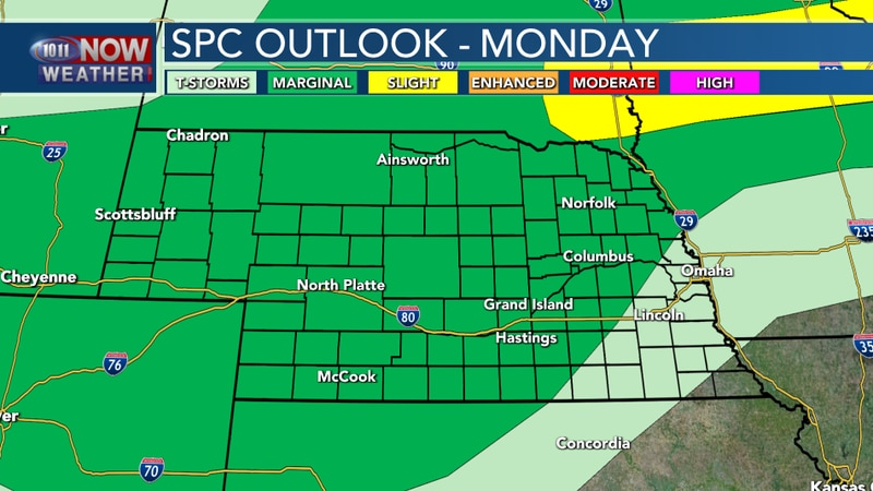 Severe Outlook Monday Night