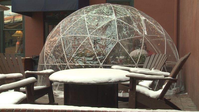 The Tavern on the Square and Vincenzo's Ristorante are teaming up and brought in an igloo for...