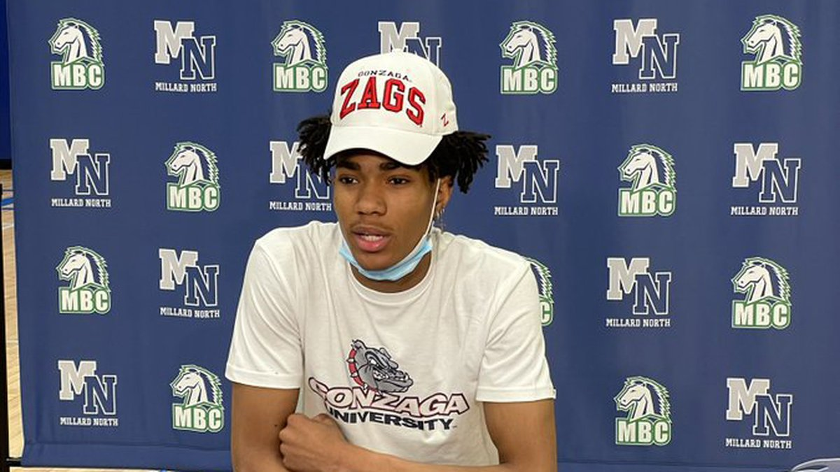Millard North's Hunter Sallis announced Friday, March 26, 2021, that he has committed to play...