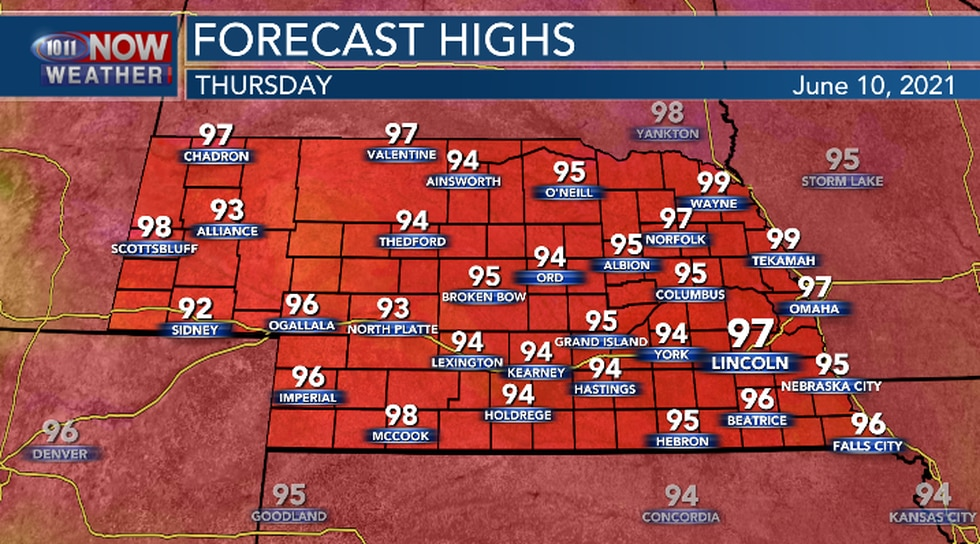 Hottest day of 2021 so far Thursday afternoon.