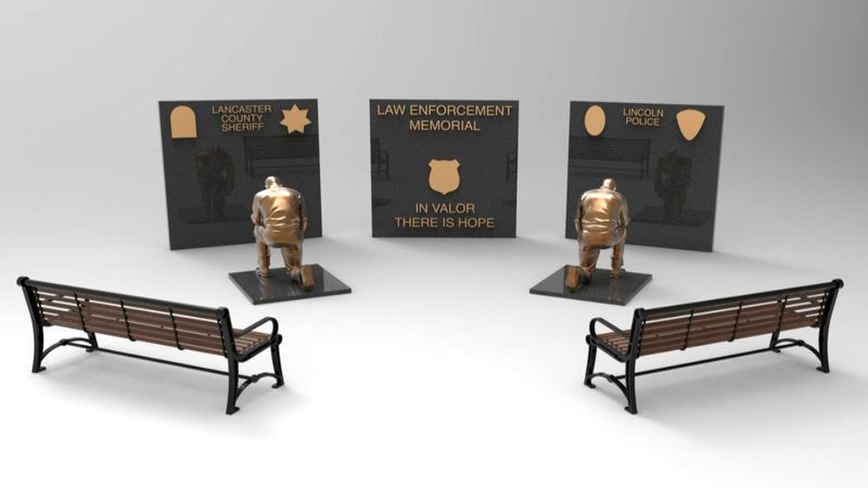 By next fall, there will be a new memorial honoring fallen law enforcement here in...