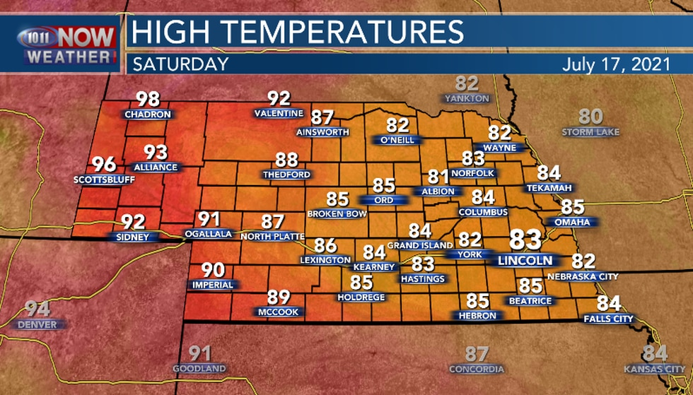 Below average temperatures are likely for most of the area for the first half of the weekend.