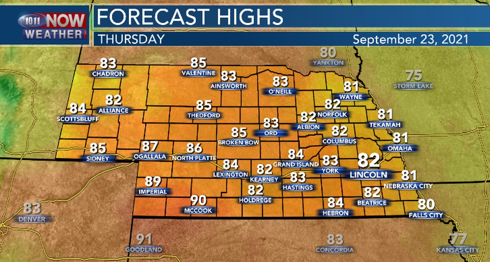 Sunshine and warmer temperatures.