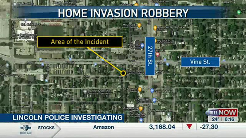 Home invasion robbery and stabbing