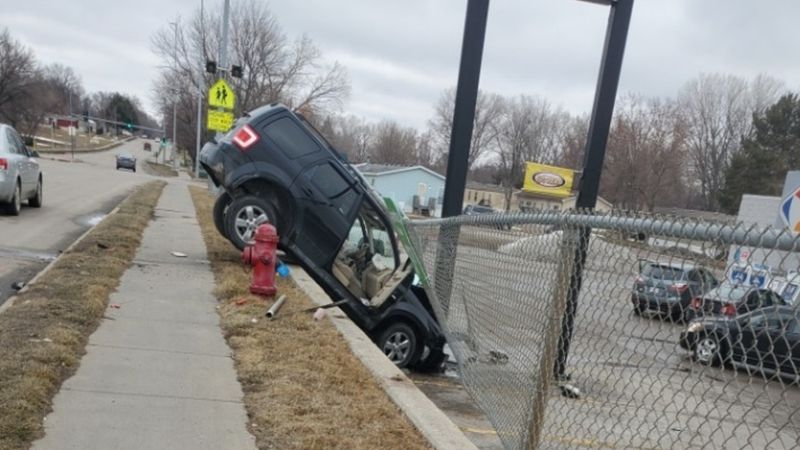 LPD responded to a crash near a Kwik Shop on Sunday.