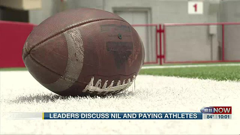 University leaders discuss NIL and having athletes get paid for it.