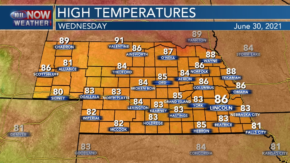 Warm temperatures expected for the final day of June.