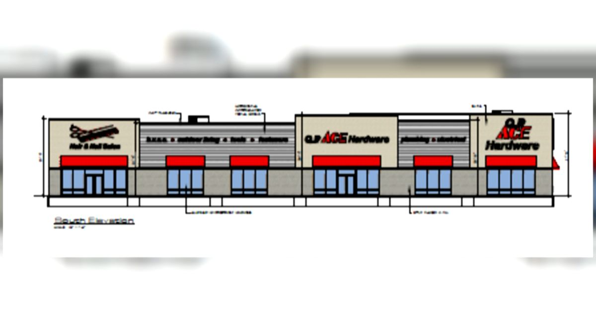 Rendering of new QP Ace Hardware at 27th & Randoph