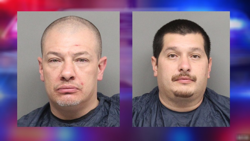 Roger Vaughn, left, and Joseph Gandara, right, are facing multiple charges related to a search...