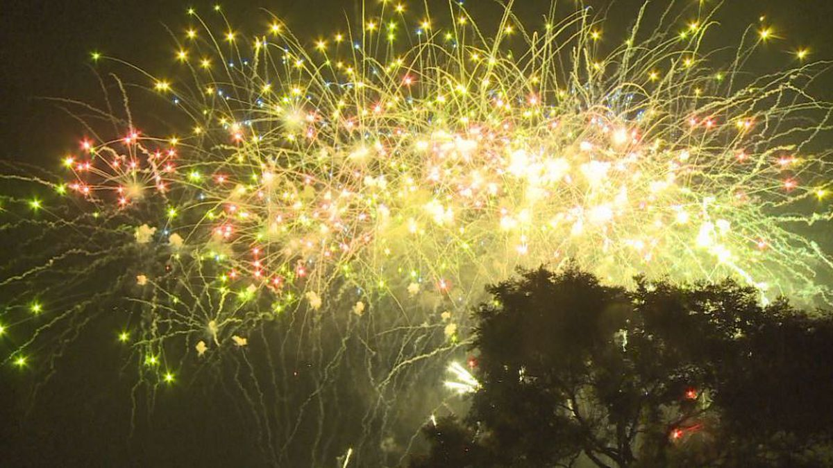 Fireworks on display during the City of Lincoln's Uncle Sam Jam. (Source: KOLN)