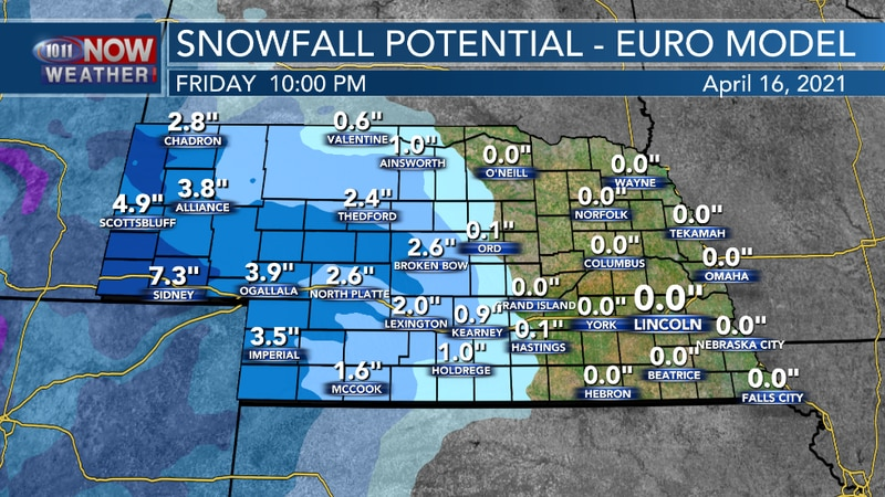Mid-April Snow Threatens The West...