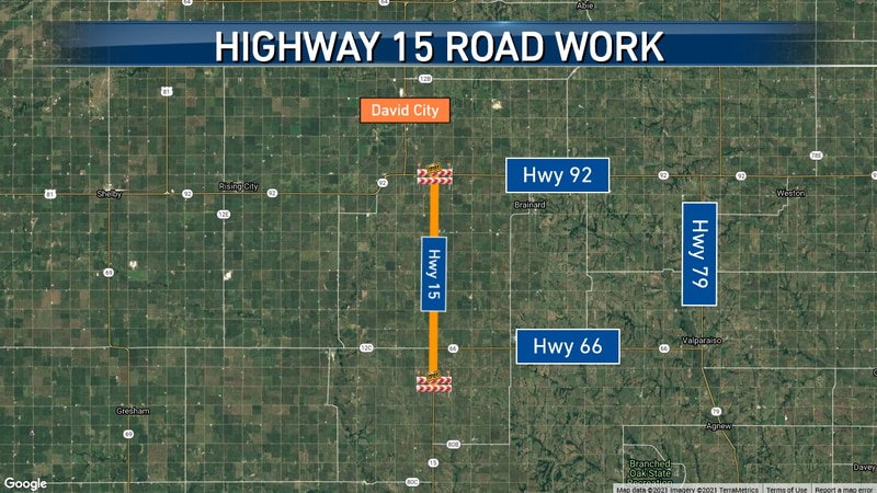 11 miles on Highway 15 in Butler County will see new road work starting today.