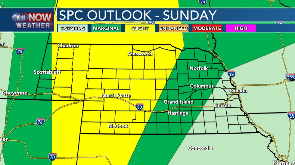 Another round of severe storms will be possible for much of the state on Sunday afternoon and...
