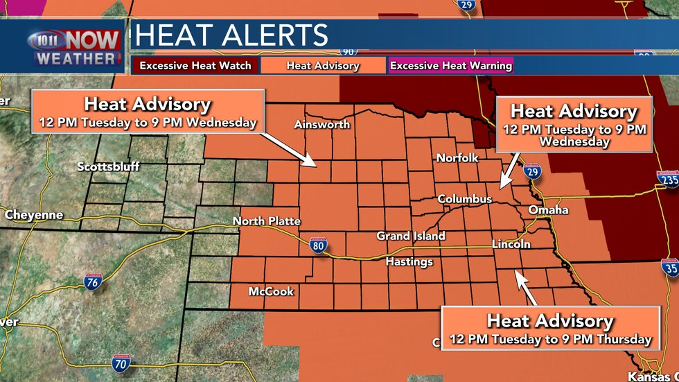 Heat Advisories are in place across much of the state over the next several days with heat...