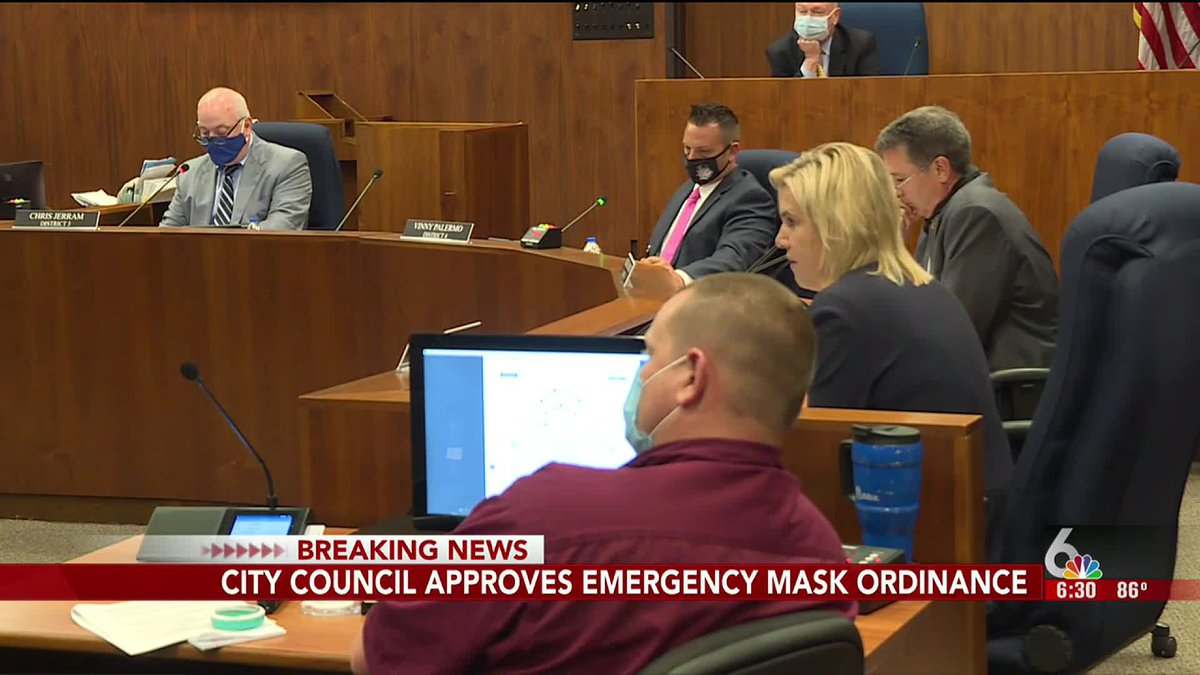 Omaha City Council passed an emergency face mask ordinance at its meeting Tuesday, Aug. 11, 2020.