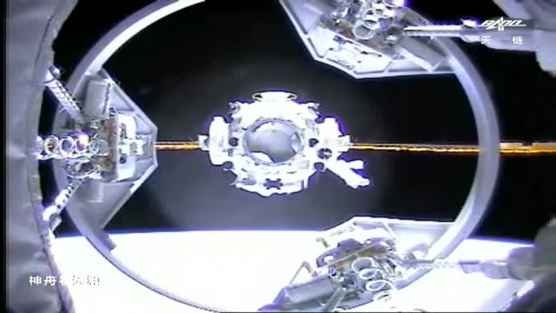 China successfully sends three astronauts to the country's space station.