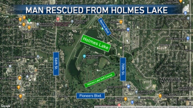 A fisherman who broke through the ice at Holmes Lake is recovering.