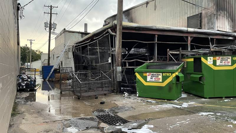 Fire at Paramount Linen and Uniform Rental Friday, July 9.