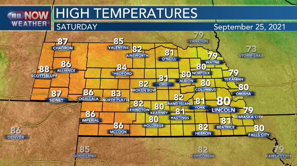 Saturday will be a little warmer than Friday.