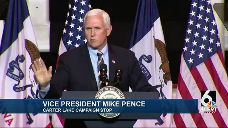 Vice President Mike Pence in Carter Lake