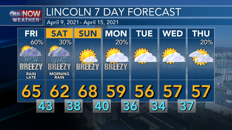 Seasonal weather is expected into the weekend with cooler weather through most of next week.