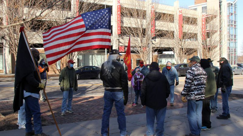 Lincoln veterans march through the city to honor veterans.
