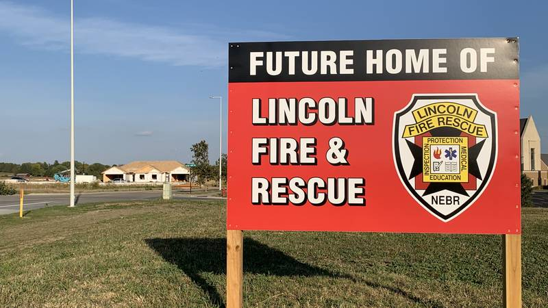 A sign marking the future site of LFR's Station 17 near 40th & Wilderness Hills in far south...