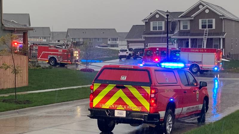 Lincoln Fire and Rescue responded to a house fire near the 8900 block of Trader Court in far...