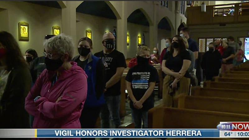 St. Teresa's hosts vigil for Inv. Herrera