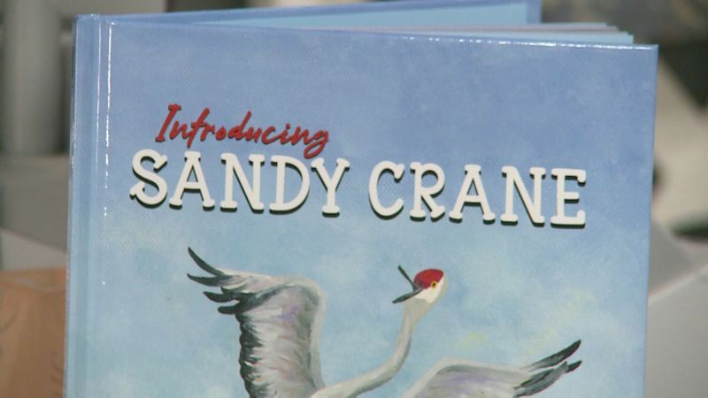 A book centered around the story of a Sandhill crane continues to draw interest from families.