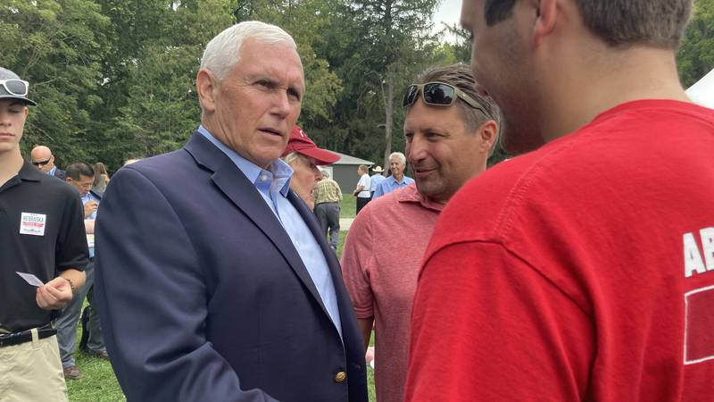 Former Vice President Mike Pence at Gov. Ricketts' 5th annual Steak Fry on Sunday, Sept. 12.