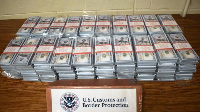 CBP officers seized over $6.5 million in fake U.S. and Euro currency from Russia.