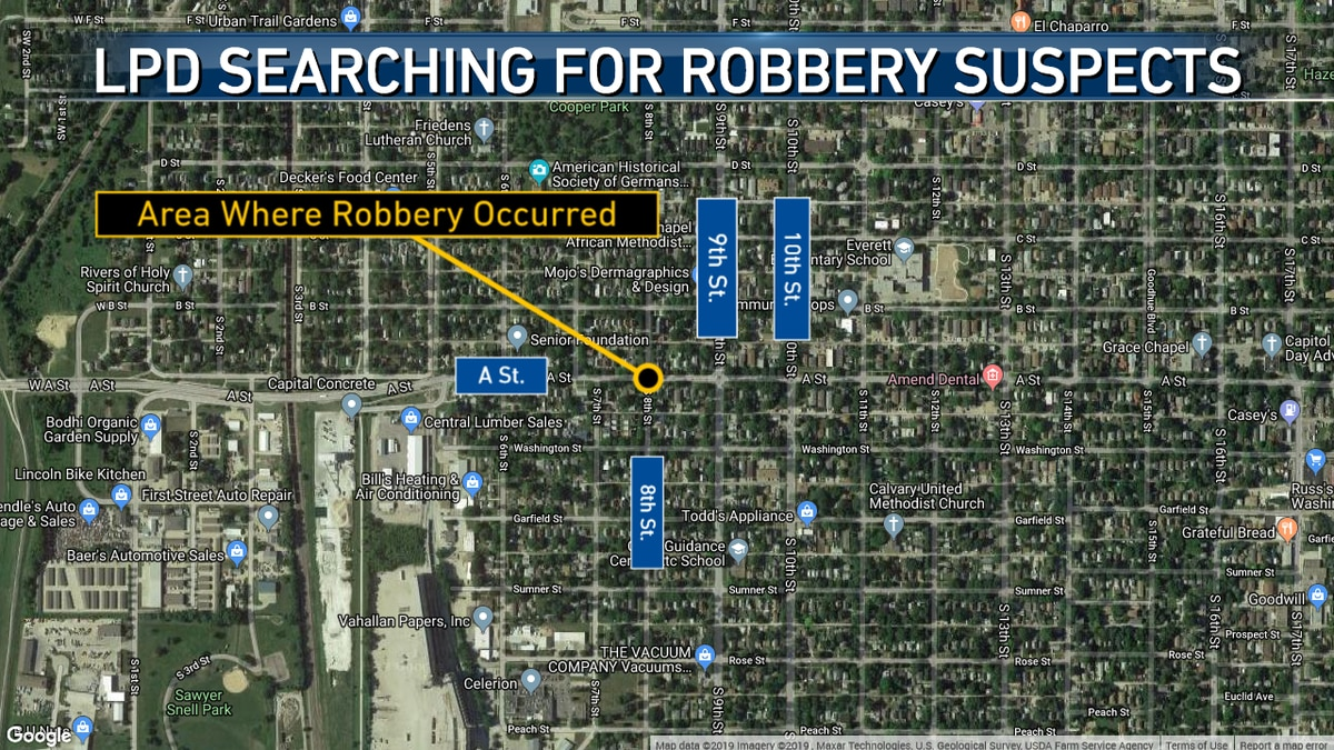 Lincoln Police are searching for two robbery suspects from Tuesday night.
