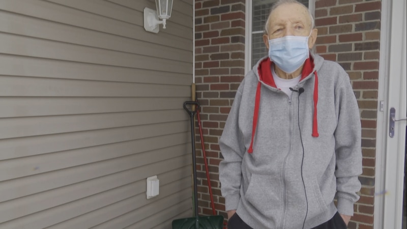 85-year-old Delmar Brennan has been waiting patiently to get the COVID-19 vaccine and Tuesday...